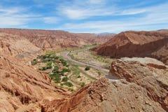 Vista em valle Quitor, San Pedro de Atacama imagem de stock royalty free