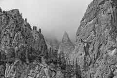 Vista enorme delle alpi della montagna di Pordoi delle dolomia Fotografie Stock