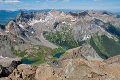 vista 14er da parte superior da montagem Sneffels 14.150 pés acima do nível do mar Fotografia de Stock Royalty Free