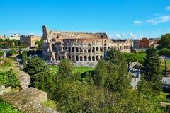 Vista escénica aérea de Colosseum en Roma, Italia Imagen de archivo