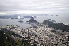 Vista escénica de la bahía de Botofogo en Rio de Janeiro Fotografía de archivo