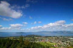 Vista escénica de la ciudad de Rotorua Imagen de archivo