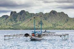 Vista escénica de la isla de Komodo (Indonesia) Foto de archivo libre de regalías