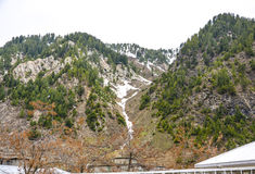 Vista escénica de las montañas de Naran, Paquistán Imagen de archivo libre de regalías