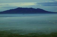 Montañas de Parahyangan fotografía de archivo libre de regalías