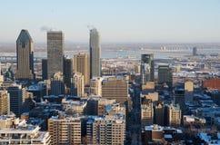 Vista escénica de Montreal céntrica Imagen de archivo