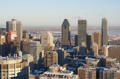 Vista escénica de Montreal céntrica Fotografía de archivo libre de regalías