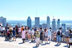 Vista escénica de Montreal céntrica Foto de archivo libre de regalías