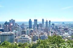 Vista escénica de Montreal céntrica Imagen de archivo libre de regalías