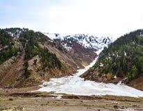 Vista escénica de Naran Kaghan Valley, Paquistán Foto de archivo libre de regalías