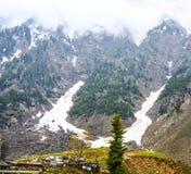 Vista escénica de Naran Kaghan Valley, Paquistán Imagen de archivo libre de regalías