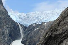 Vista escénica de un glaciar (Noruega) imagen de archivo