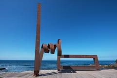 Vista escénica de una escultura en febrero 23,2016 del hierro Imagenes de archivo