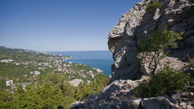 Vista escénica de Yalta de la montaña almacen de video
