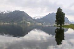 Vista escénica del fiordo Foto de archivo