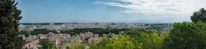 Vista escénica del horizonte de Roma Foto de archivo