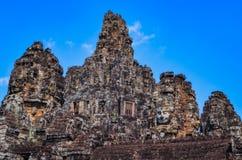 Vista escénica del templo antiguo en Angkor Wat fotografía de archivo