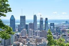 vista escénica del verano Montreal Imagen de archivo libre de regalías