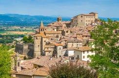 Vista escénica en Anghiari, en la provincia de Arezzo, Toscana, Italia foto de archivo
