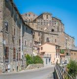 Vista escénica en Bomarzo, provincia de Viterbo, Lazio, Italia central fotos de archivo