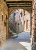 Vista escénica en Capalbio, pueblo pintoresco en la provincia de Grosseto Toscana, Italia fotografía de archivo
