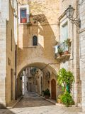 Vista escénica en Giovinazzo, provincia de Bari, Puglia, Italia meridional imágenes de archivo libres de regalías