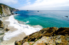 Vista escénica en la ruta 1 del estado de California fotos de archivo