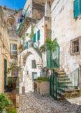 Vista escénica en Matera en el distrito del ` de Sassi del `, Basilicata, Italia meridional Fotografía de archivo libre de regalías