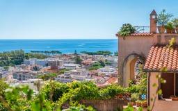 Vista escénica en Terracina, provincia de Latina, Lazio, Italia central imagen de archivo libre de regalías