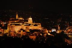 Vista espectacular de Budapest na noite fotografia de stock