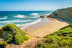 Vista espectacular del punto en Victoria, Australia del pájaro de la roca Foto de archivo