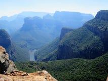 Vista espetacular da garganta do rio de Blyde imagens de stock
