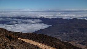 Vista espetacular do obervatório sobre o timelapse das nuvens, Tenerife de Teide, Espanha filme