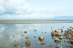 Vista esplosa della spiaggia della Cambogia Fotografia Stock