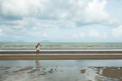 Vista esplosa della spiaggia della Cambogia Immagine Stock