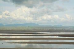 Vista esplosa della spiaggia della Cambogia Immagini Stock Libere da Diritti