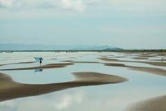 Vista esplosa della spiaggia della Cambogia Fotografie Stock Libere da Diritti