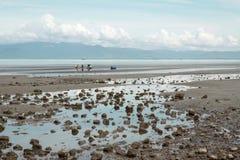 Vista esplosa della spiaggia della Cambogia Fotografie Stock