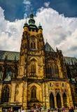 Vista esteriore alla cattedrale della st Vitus, Praga, repubblica Ceca Immagine Stock