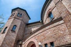 Vista esteriore circolare della chiesa congregazionalista, Charleston immagini stock libere da diritti