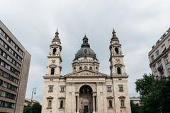 Vista esteriore della st Stephen Basilica a Budapest Fotografia Stock