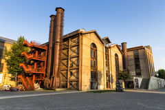 Vista esteriore di vecchio museo della centrale elettrica di Santral Costantinopoli Fotografie Stock Libere da Diritti