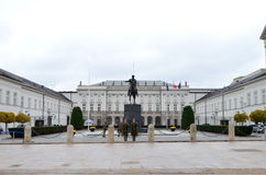 Vista esterna del palazzo presidenziale a Varsavia, Polonia Fotografia Stock