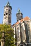 Vista esterna della cattedrale di Naumburg; La Germania Fotografie Stock Libere da Diritti