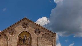 Vista esterna della cupola di Spoleto immagine stock libera da diritti