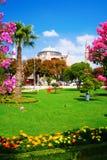 Vista esterna della moschea di Hagia Sophia, Costantinopoli Fotografia Stock