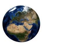 Vista Europa del globo Immagini Stock