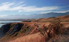 Vista excitante de Kaikoura, Nova Zelândia Foto de Stock