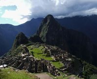 Vista excitante de Machu inteiro Picchu Imagens de Stock Royalty Free