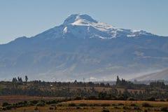 Vista excitante do vulcão de Cayambe, Equador imagens de stock